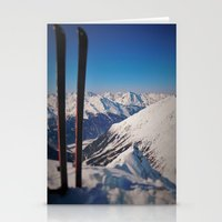 ski Stationery Cards featuring ski by Vii.