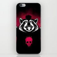 raccoon iPhone & iPod Skins featuring Raccoon! by Pigboom Art