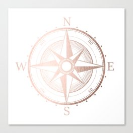 Rose Gold Compass Canvas Print