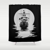 pirates Shower Curtains featuring Mugiwara Pirates by Anuktoy