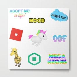 Roblox Adopt Me Metal Print