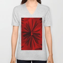 Red Origami Flowers #decor #society6 #buyart Unisex V-Neck