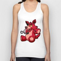 fnaf Tank Tops featuring Foxy the Plush by GlacierK