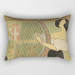 Art nouveau Royal Opera House Turin Torino Rectangular Pillow