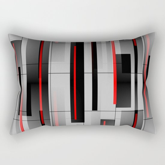 Off the Grid - Abstract - Gray, Black, Red by mellowcat