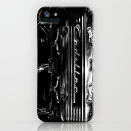 Black and White Vintage Hot Rod Engine iPhone Case