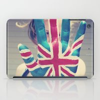 british flag iPad Cases featuring british flag love by Starr Shaver