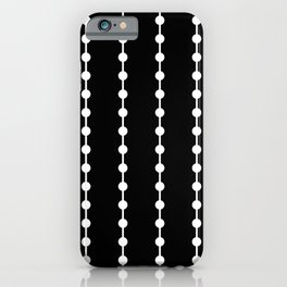 Geometric Droplets Pattern Linked White on Black iPhone Case