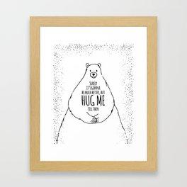 HUG ME II Framed Art Print