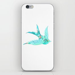 Lighter Blue Swallow iPhone Skin