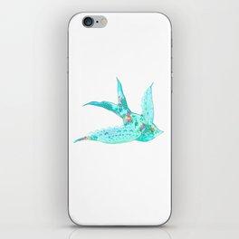 Lighter Blue Swallow iPhone Skin