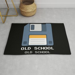 Old School Computer Floppy Diskette Rug