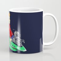 bender Mugs featuring Bender and Fry by Punksthetic