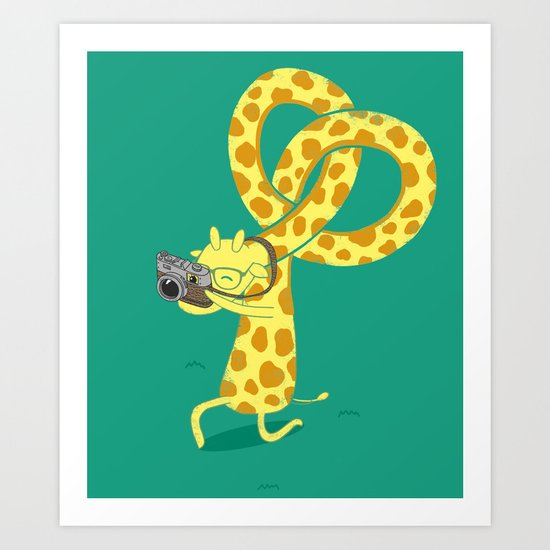 A Giraffe Photographer Art Print