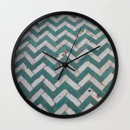 Chevron Tiles Wall Clock