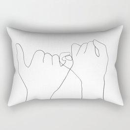 pinky swear Rectangular Pillow