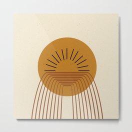 Geometric Sunset   Metal Print