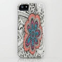 Flower-tangle iPhone Case