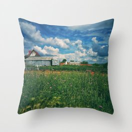 Summer on a village Throw Pillow
