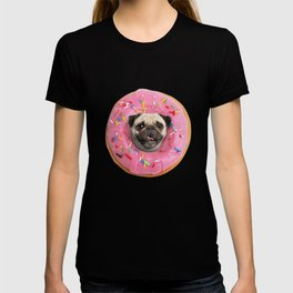 Pug Strawberry Donut T-shirt