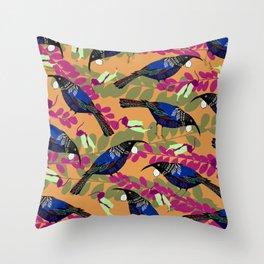 tui orange Throw Pillow