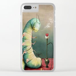 fairy tale story Wonderland with caterpillar and hookah Clear iPhone Case
