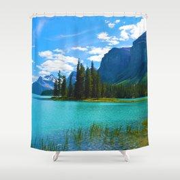 Maligne Lake in Jasper National Park, Canada Shower Curtain
