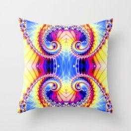 BBQSHOES™: Wu Wei Spiral Fractal Psychedelic Art Throw Pillow