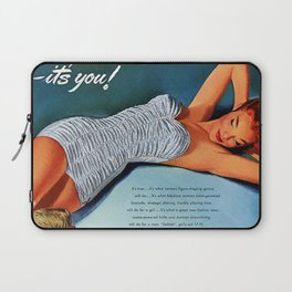 Retro 1940's - 1950's Beach Swimwear Bathing suit Advertisement Vintage Poster  Laptop Sleeve