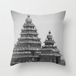 The Shore Temple Throw Pillow