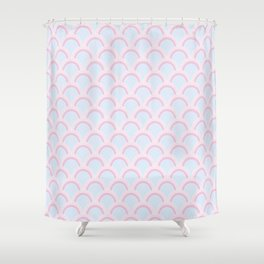 Pearly Glow Pastel Shower Curtain