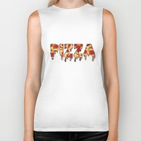 pizza Biker Tanks featuring Pizza... by radoverlays