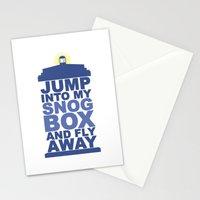 Snog Box (Tardis) Stationery Cards