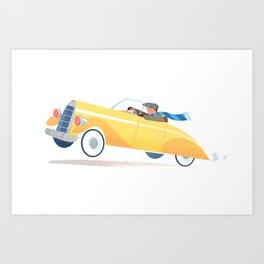 Yellow Roadster Art Print