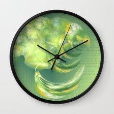The green Brain Wall Clock