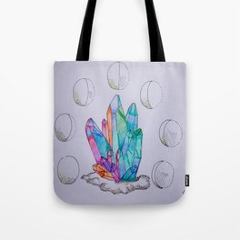 Moon Phases Crystals 1 Tote Bag