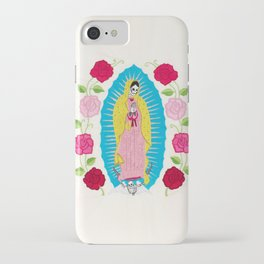 Skull Virgin of Guadalupe_ Hand embroidered iPhone Case