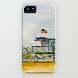 Santa Monica Beach - Lifeguard Tower #8 iPhone Case