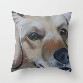 Josie (blue) Throw Pillow