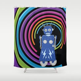 Electra Robot Shower Curtain