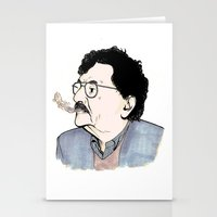kurt vonnegut Stationery Cards featuring Kurt by JT Illustrates