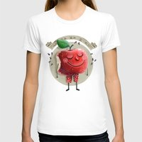 apple T-shirts featuring Apple by Lime
