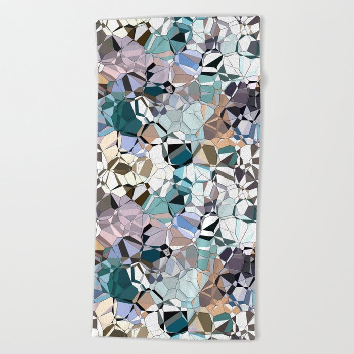Abstract Geometric Shapes Beach Towel