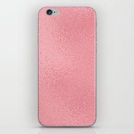 Simply Metallic in Pink Rose Gold iPhone Skin