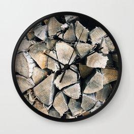 Woodpile I Wall Clock