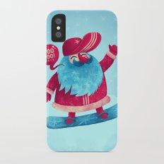 Snowboard Santa iPhone X Slim Case