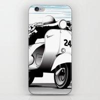 racing iPhone & iPod Skins featuring Racing by Don Paris Schlotman