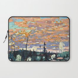 Tom Thomson - Wild Cherries, Spring - Canada, Canadian Oil Painting - Group of Seven Laptop Sleeve