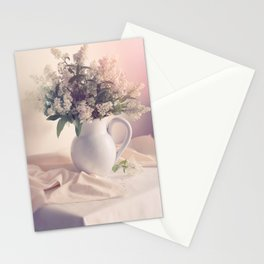 Still life with white privet flowers Stationery Cards