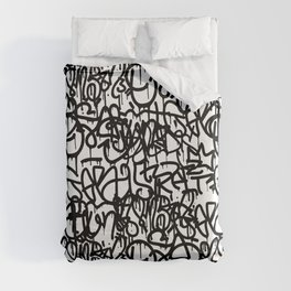 Graffiti Pattern | Street Art Urban Graphic Duvet Cover